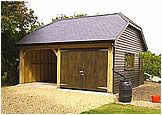 Timber garage by Wood Constructions